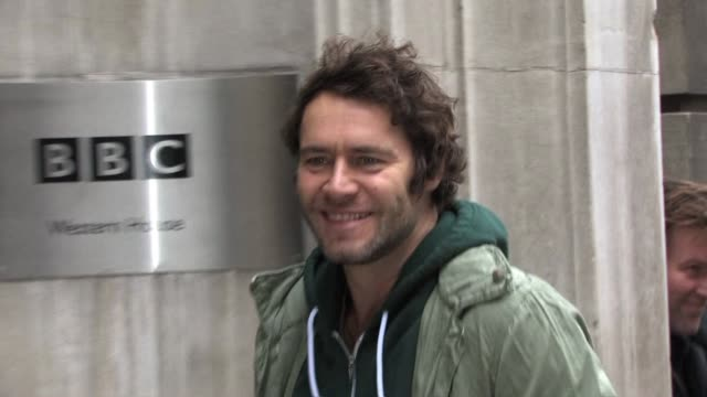 take that group member howard donald arrives at bbc radio two studios to promote their upcoming tour. celebrity sightings - take that at bbc radio... - bbc radio stock videos & royalty-free footage