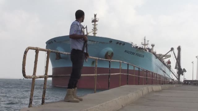 taken during press tours organised by saudi arabia and the united arab emirates show the ports of aden and mukalla in yemen's southern hadramaut... - aden bildbanksvideor och videomaterial från bakom kulisserna