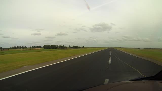 take-off, cockpit view