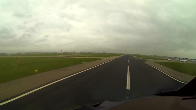 take-off, cockpit view