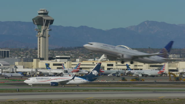 take-off from lax - lax airport stock videos & royalty-free footage