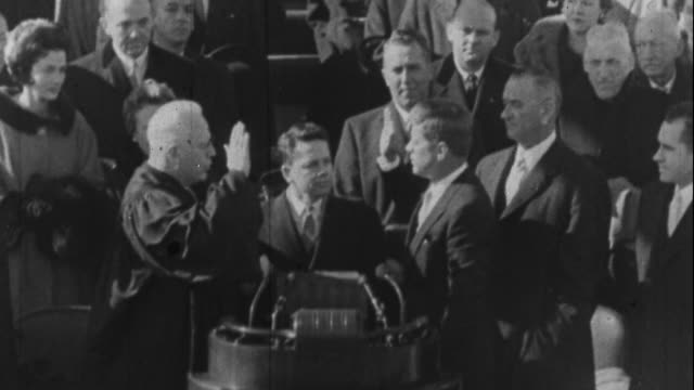 takes the oath of office - 1961 stock videos & royalty-free footage