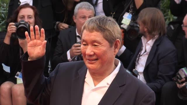 Takeshi Kitano at 2017 Venice Film Festival closing ceremony red carpet Paris France 9th September 2017