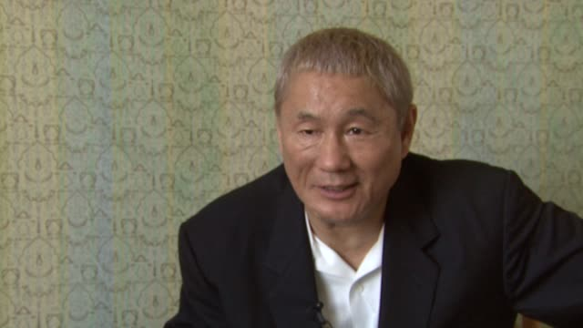 Takeshi Kitano on how he feels about showing his personal paintings in the movie even though he feels that his paintings weren't that good at the...