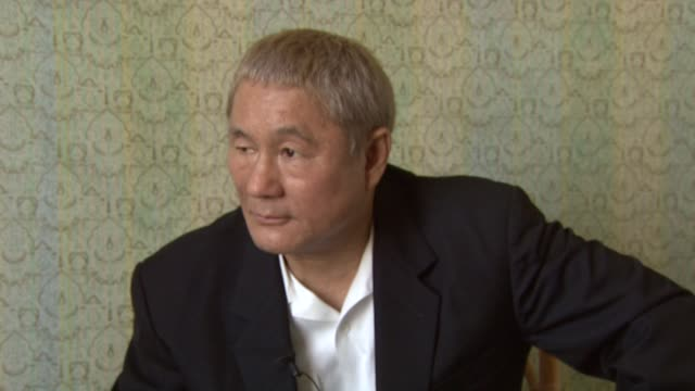 Takeshi Kitano on how he feels about the film being about criticism competing in a film festival like Venice at the 65th Venice Film Festival Takeshi...