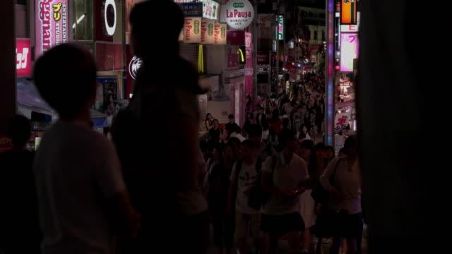 takeshita street in harajuku.tokyo,japan. - 歩行者専用地域点の映像素材/bロール