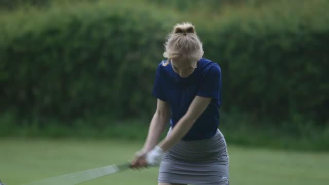 taking a full swing - golf swing stock videos & royalty-free footage