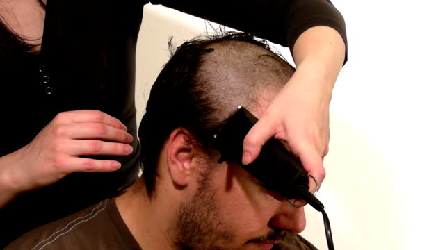 taking a haircut - human hair stock videos & royalty-free footage
