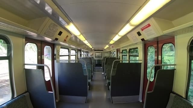 taking a ride in a city train - vehicle seat stock videos & royalty-free footage