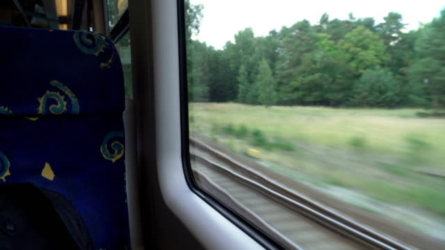 taking a seat in train at germany - vehicle seat stock videos & royalty-free footage