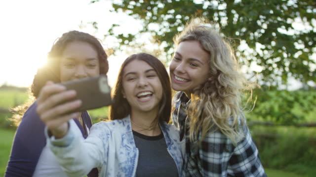 taking a selfie - social gathering stock videos & royalty-free footage