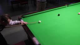 Taking a Snooker Shot