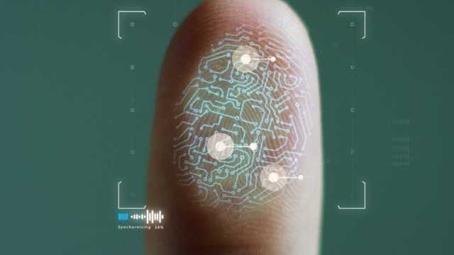 taking digital fingerprint from person's finger - identity点の映像素材/bロール