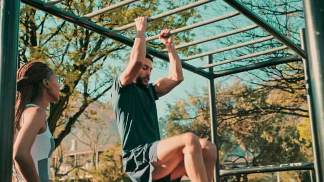 taking fitness to the next level - pull ups stock videos & royalty-free footage