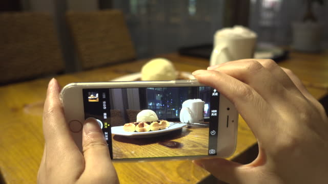 taking food photo with smart phone - photographing stock videos and b-roll footage