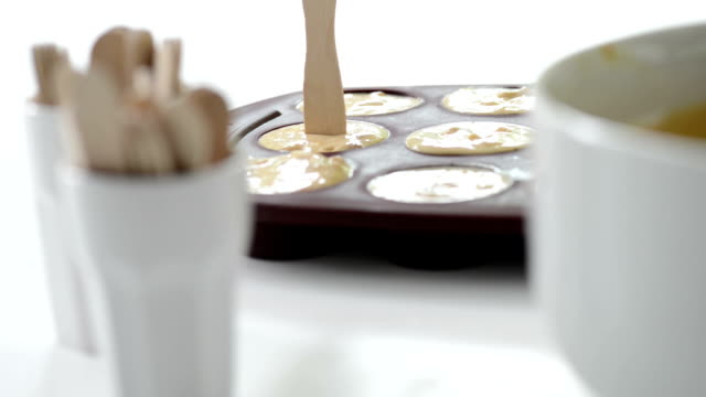 taking homemade icecream from molds - popsicle stick stock videos and b-roll footage