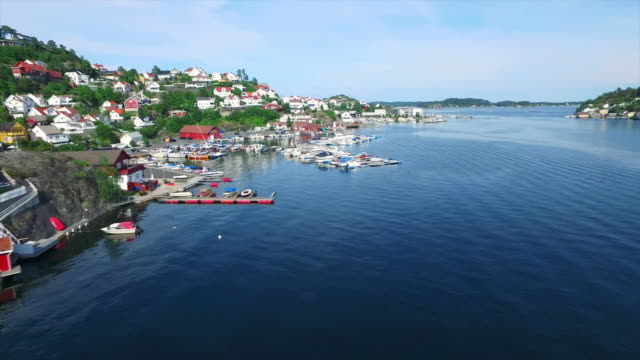 taking in kragero harbor - telemark stock videos and b-roll footage