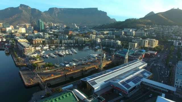 Taking in Table Mountain from the Waterfront