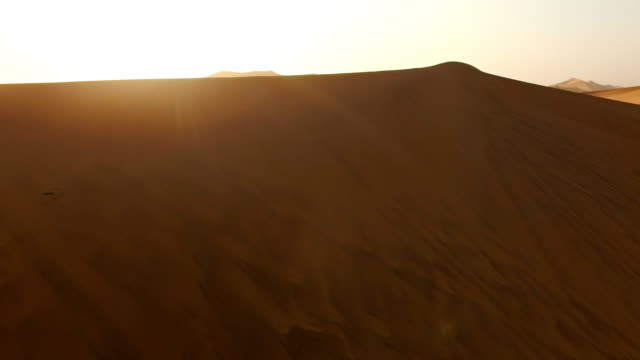 taking in the dawn from the dunes - namibian desert stock videos and b-roll footage