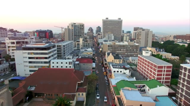 taking in the view above long street - cape town stock videos & royalty-free footage