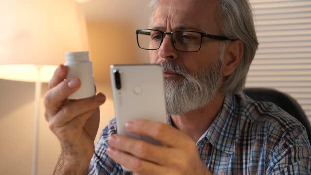 taking medication - beard stock videos & royalty-free footage