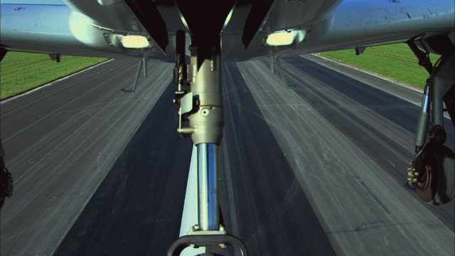 POV Taking off from Bournemouth airport / Dorset, United Kingdom