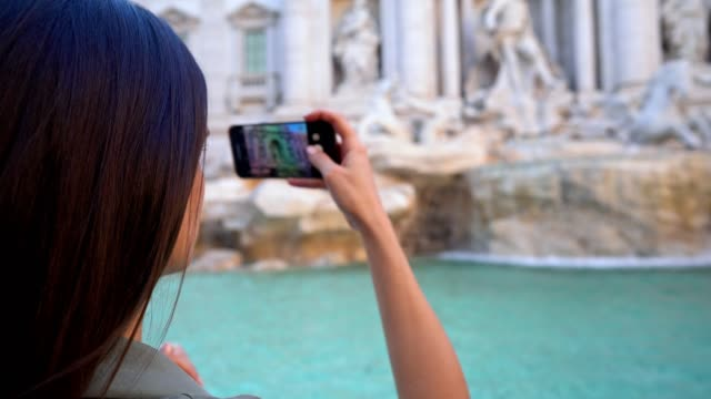 taking photos at the trevi fountain - history stock videos & royalty-free footage
