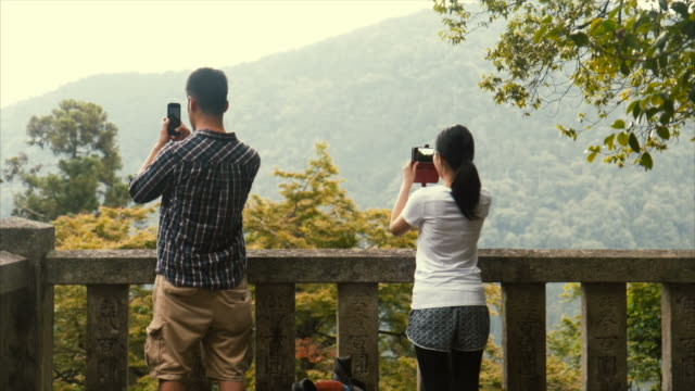 taking photos during hike - lypsekyo16 stock videos and b-roll footage