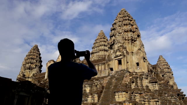 Taking photos in Angkor Wat