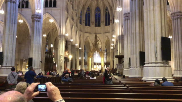 taking picture inside the church - cathedral stock videos & royalty-free footage