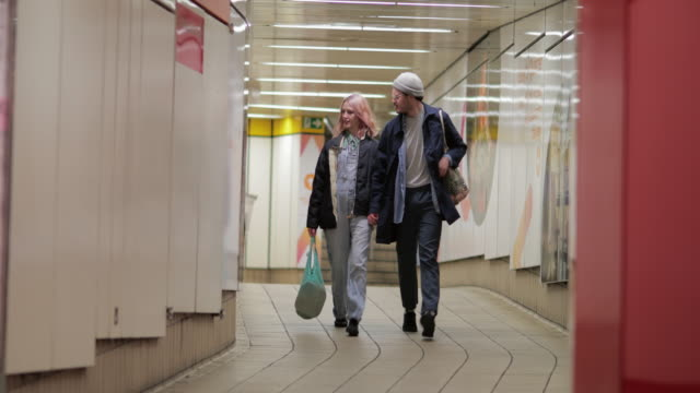 taking the subway together - newcastle upon tyne stock videos & royalty-free footage