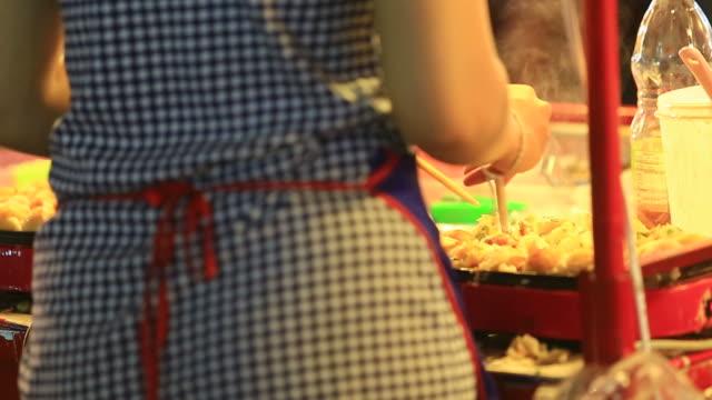 takoyaki cooking - toro fish stock videos and b-roll footage
