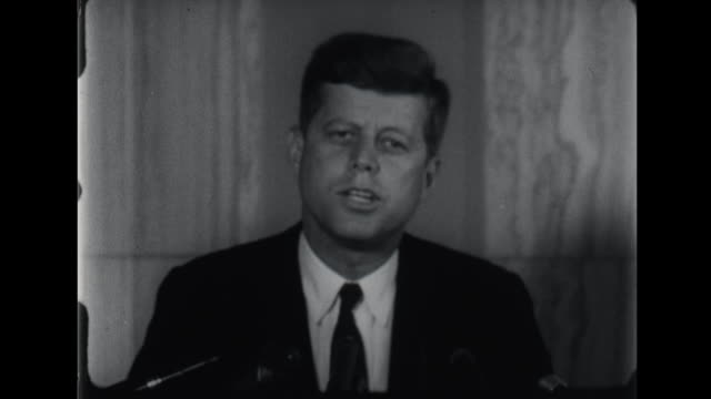 Taks abour rebuilding Amercian military strength and new policies and standing up to Nikita Khrushchev