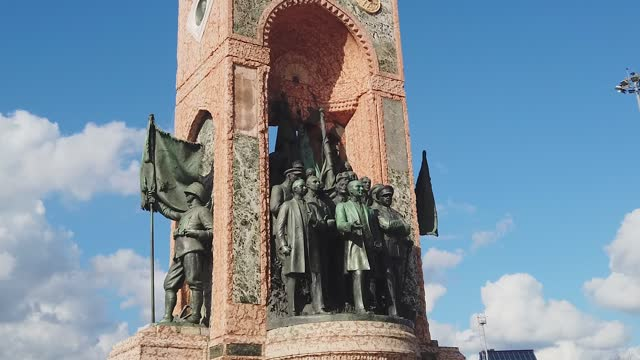 taksim republic monument in istanbul - 1928 stock videos & royalty-free footage