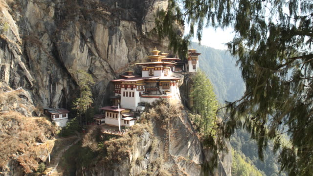 taktsang gompa (tigers nest monastery) - bhutan stock videos & royalty-free footage