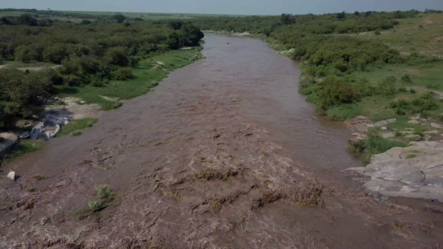talek river in flood, maasai mara, kenya, africa - flood stock videos & royalty-free footage