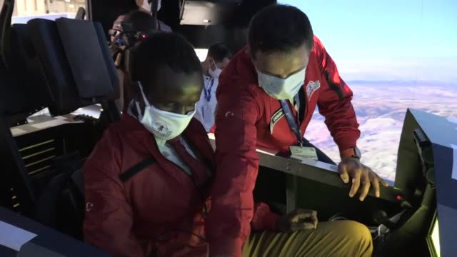 talented 17-year-old somali boy is being hosted by the turkish foreign ministry to attend teknofest, the country's largest aerospace and technology... - industry stock videos & royalty-free footage