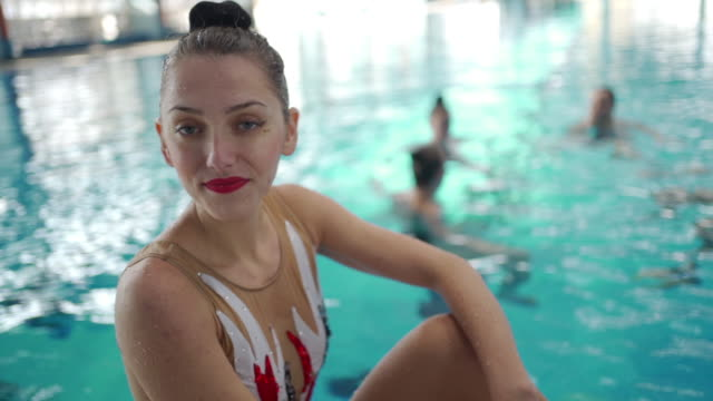 talented young woman - woman swimming costume stock videos & royalty-free footage