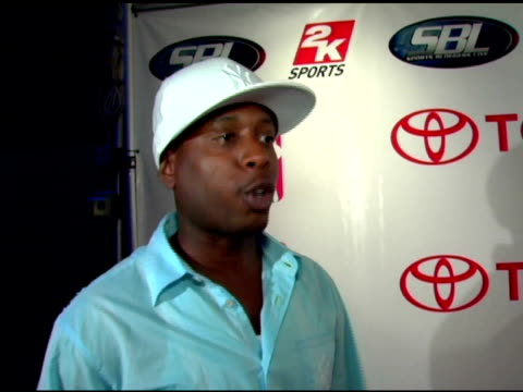 talib kweli on playing with mos def, this event being better because it's for charity and the miami heat at the toyota revs up nba 2006 draft at the... - mos def stock videos & royalty-free footage