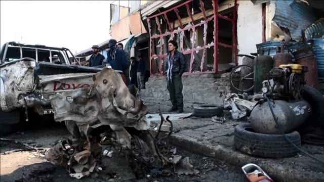 taliban bomber detonated an explosives packed vehicle near kabul airport monday killing one civilian in an attack targeting a nato convoy - kabul stock videos & royalty-free footage