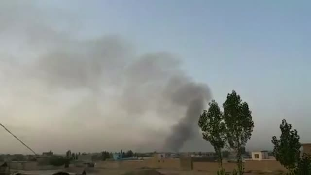 Taliban militants launch an attack on Ghazni an Afghan provincial capital and heavy fighting is under way as security forces try to beat them back...
