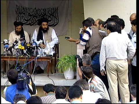 Taliban press conference Abdul Salaam Zaeef press conference SOT Please limit questions to subject of Taliban attacks