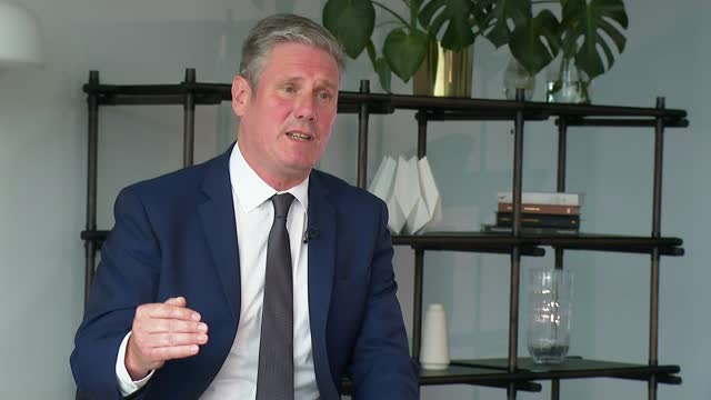 taliban takeover continues as us and uk deploy troops to evacuate embassy staff; england: london: int sir keir starmer mp interview sot. - i think... - endurance stock videos & royalty-free footage