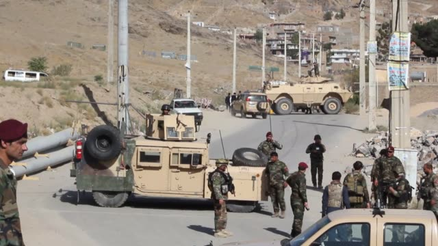 taliban-claimed suicide car bombing killed at least four soldiers in the afghan capital kabul near the headquarters of the army's commando forces, an... - afghanistan stock videos & royalty-free footage