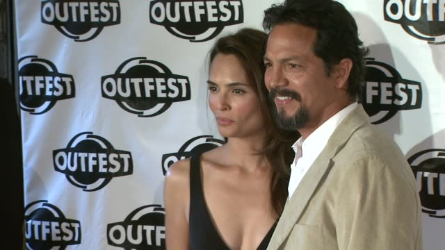 talisa soto and benjamin bratt at the 2009 outfest opening night gala of 'la mission' at los angeles ca - benjamin bratt stock videos & royalty-free footage