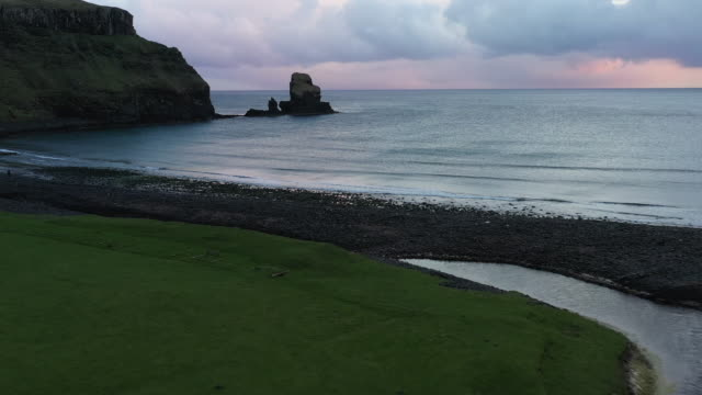 talisker bay beach - scotland stock videos & royalty-free footage