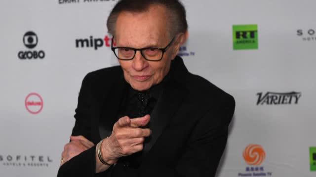 NY: FILE: Larry King hospitalized with Covid-19 (US media)