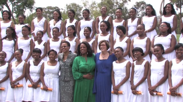 us talk show queen oprah winfrey cried saturday as the first graduates of her south african girls' academy thanked her for her effort to turn a... - oprah winfrey stock videos & royalty-free footage