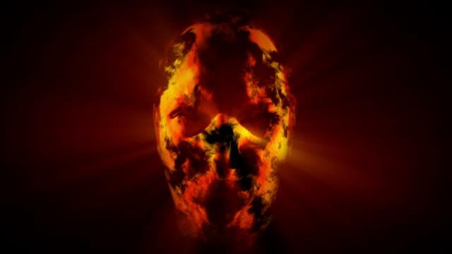 talking head on fire - devil stock videos & royalty-free footage