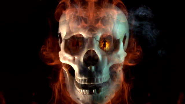 talking skull fire dancers - skull stock videos and b-roll footage